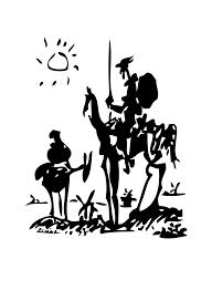 Don Quixote and Sancho Panza by Picasso