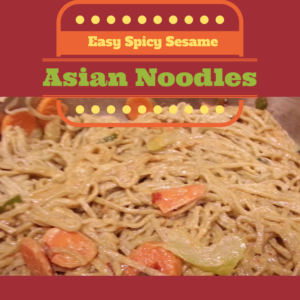 Easy Spicy Sesame Asian Noodles | Multicultural Kid Blogs