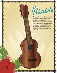 ukulele color image