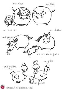 Animal Printables in Spanish pg 2