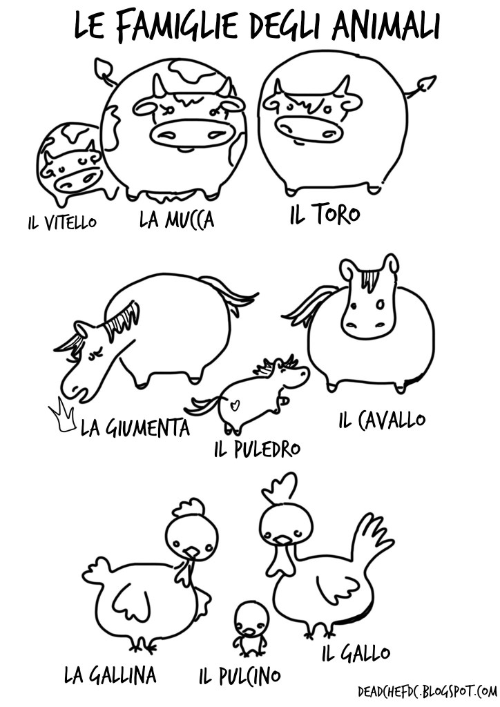 Animal Printables in Italian 1 of 3