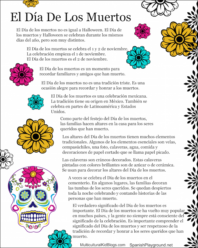 Day of the Dead Facts in English and Spanish