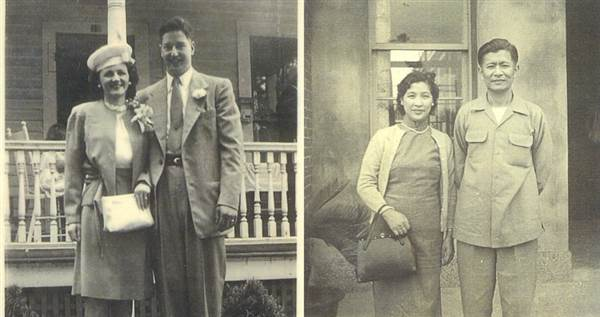 "Grandparents of Sharon H. Chang, author of ""Raising Mixed Race: Multiracial Asian Children in a Post-Racial World."" Courtesy of Sharon H. Chang"