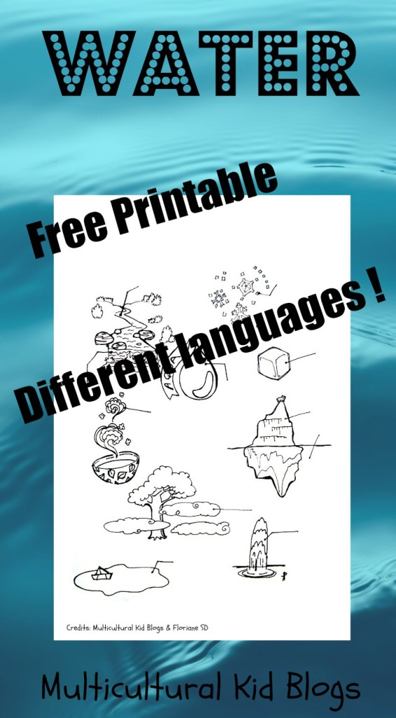 WATER: Free Multilingual Printables – In More than 15 Languages!