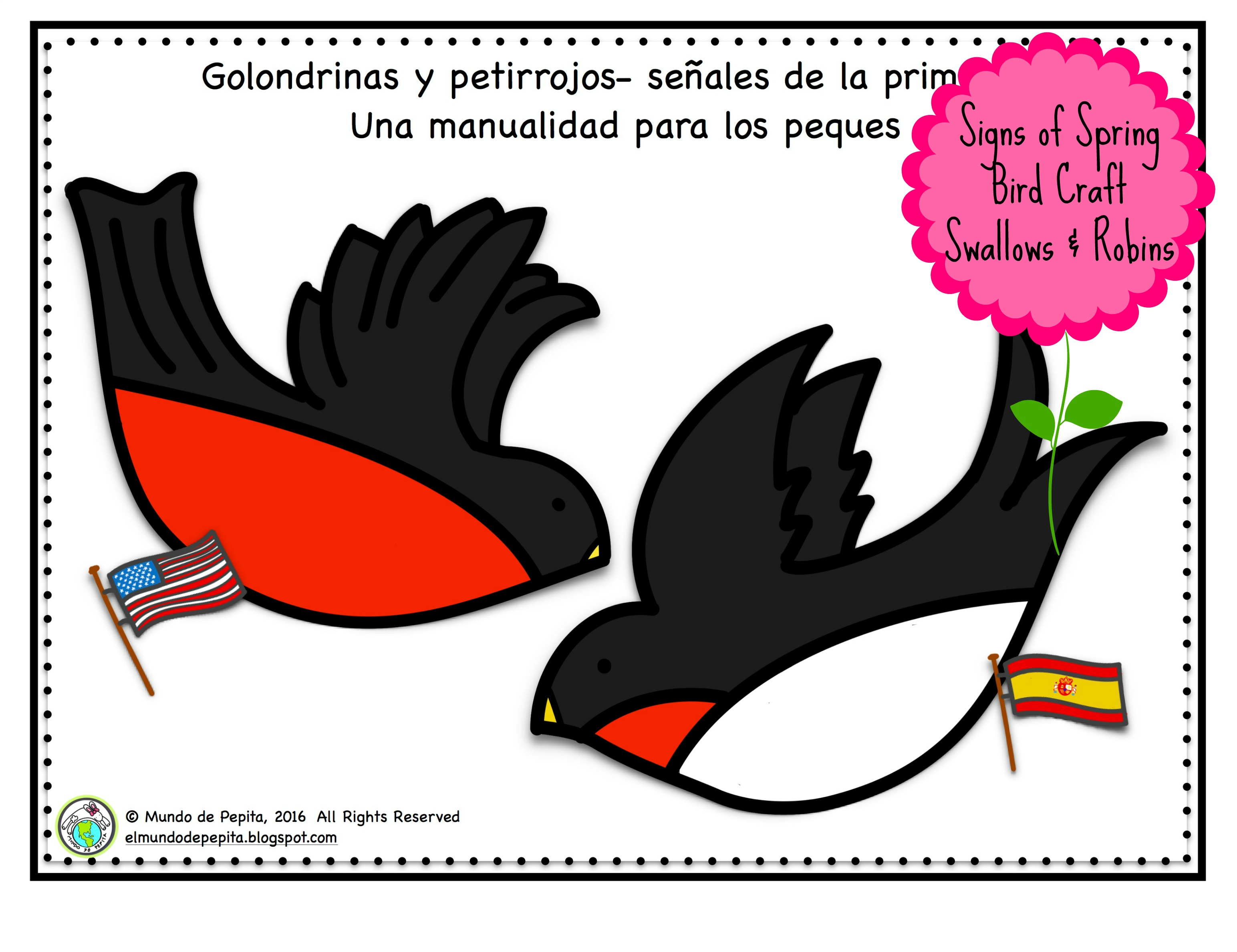Spanish Spring Craft: Swallows and Robins - Multicultural Kid Blogs