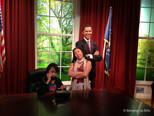 My eldest with Obama in London