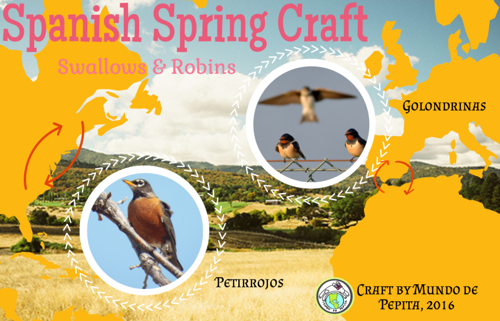 A Spanish spring craft to share with children learning language.