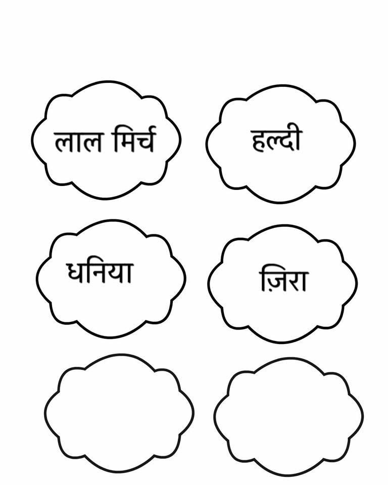 Hindi=gardening planter labels