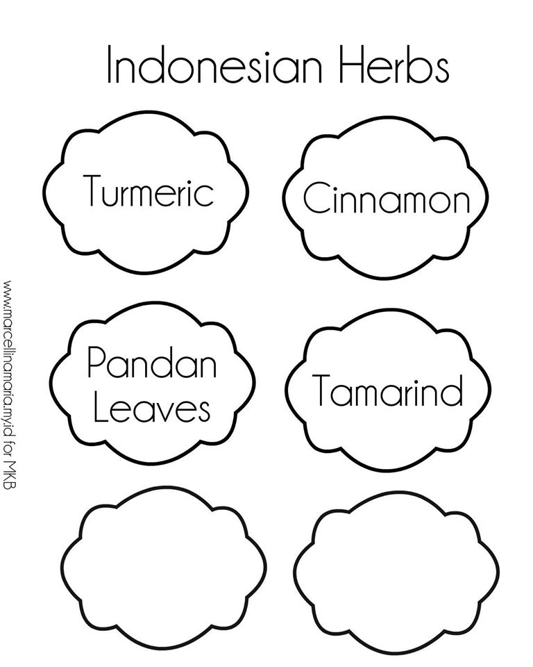 Indonesian Herbs-planter labels 2