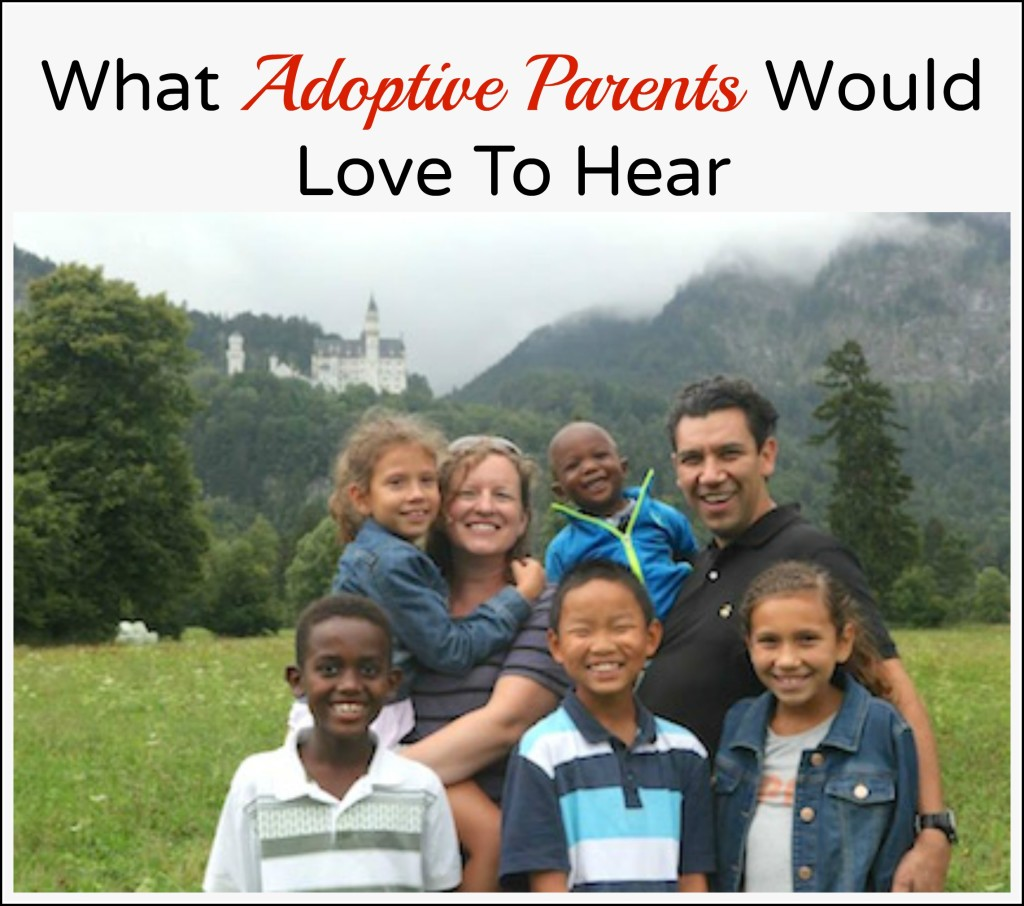 what adoptive parents - parents of adopted children would love to hear. What to say after adoption to new parents Multicultural Kid Blogs