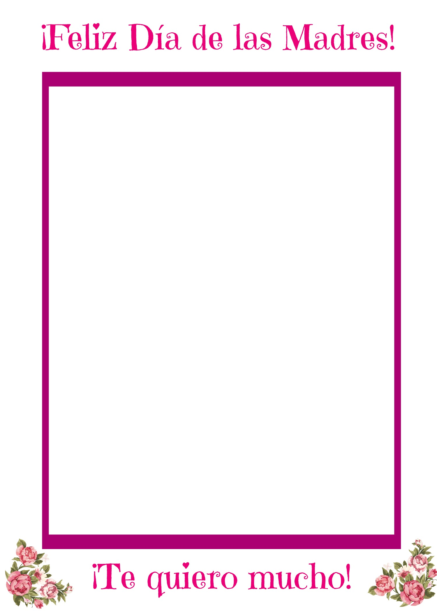 Free Multilingual Printable Mother\'s Day Picture Frame ...