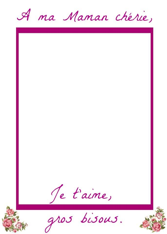 Free Printable Mother's Day Picture Frame in French