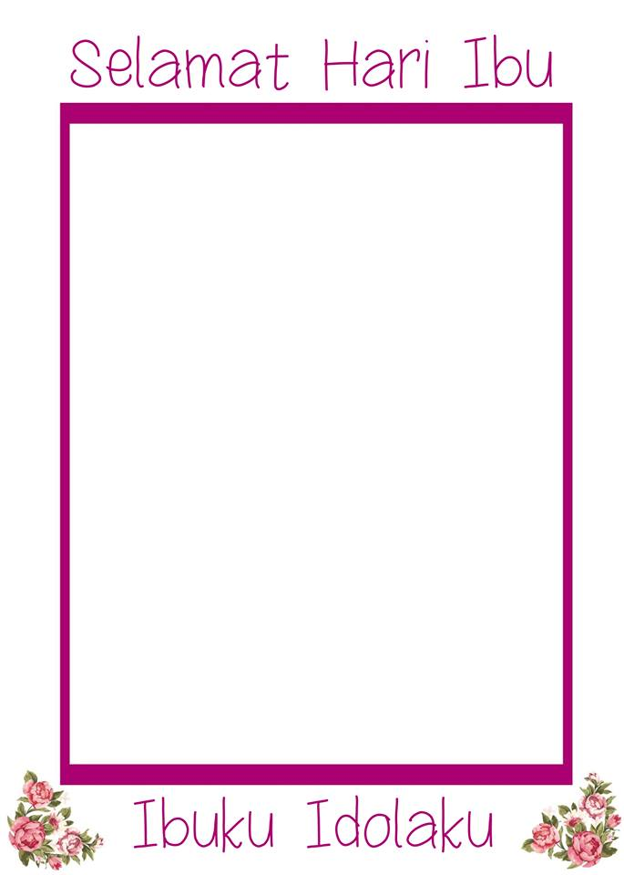 Free Printable Mother's Day Picture Frame in Indonesian