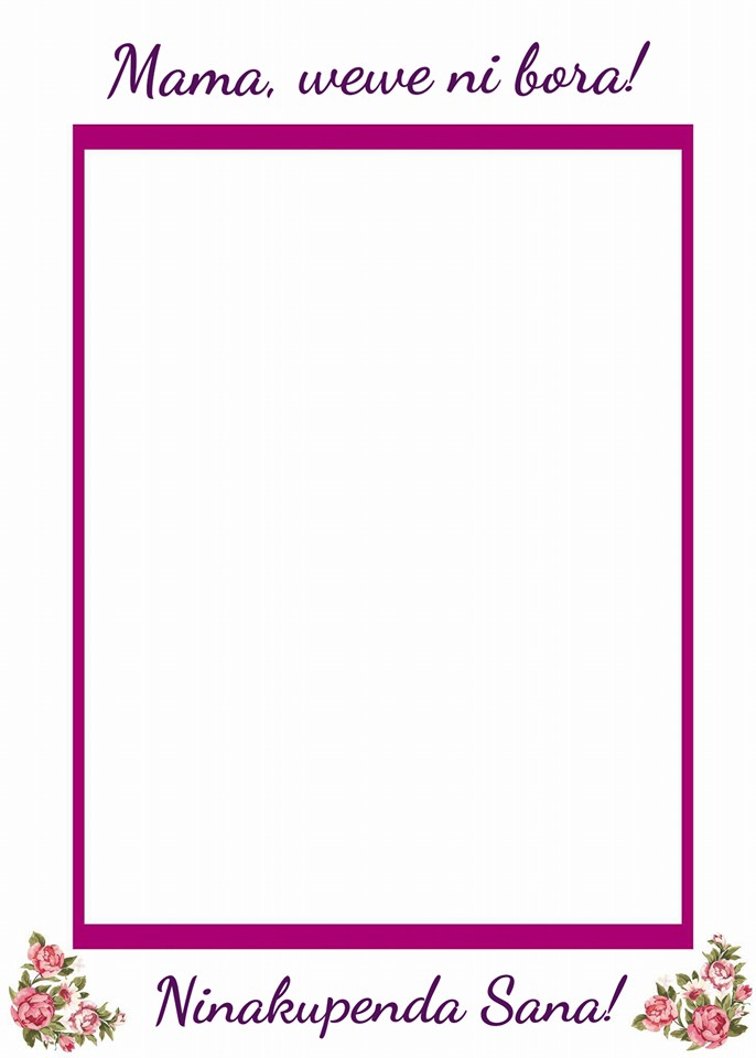 Free Printable Mother's Day Picture Frame in Swahili