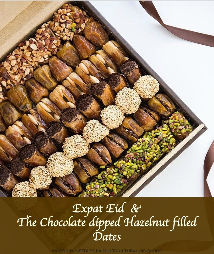 My Expat Eid & the Chocolate-Dipped, Hazelnut-Filled Dates