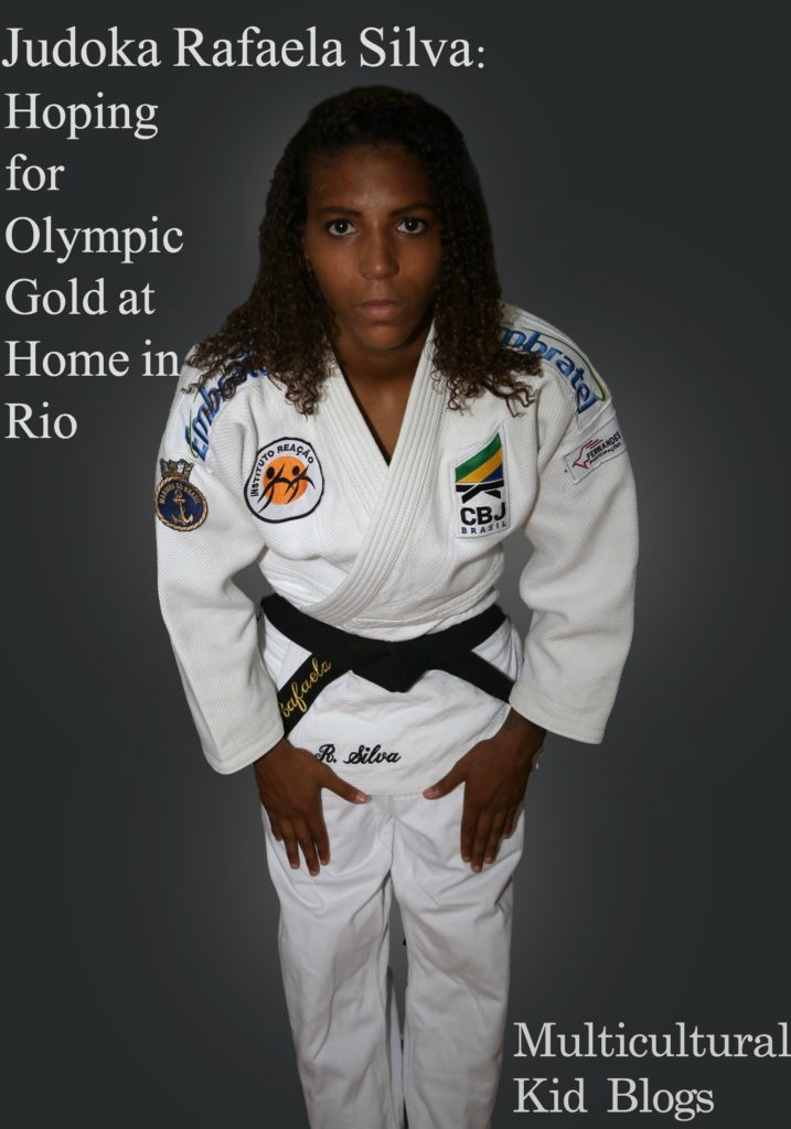 Judoka Rafaela Silva: Hoping for Olympic Gold at Home in Rio. Summer Olympic inspiration on Multicultural Kid Blogs