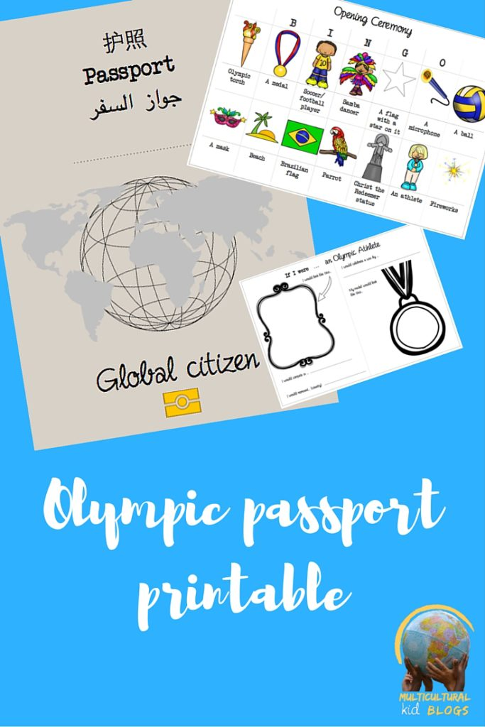 Passport to the Olympics Printable