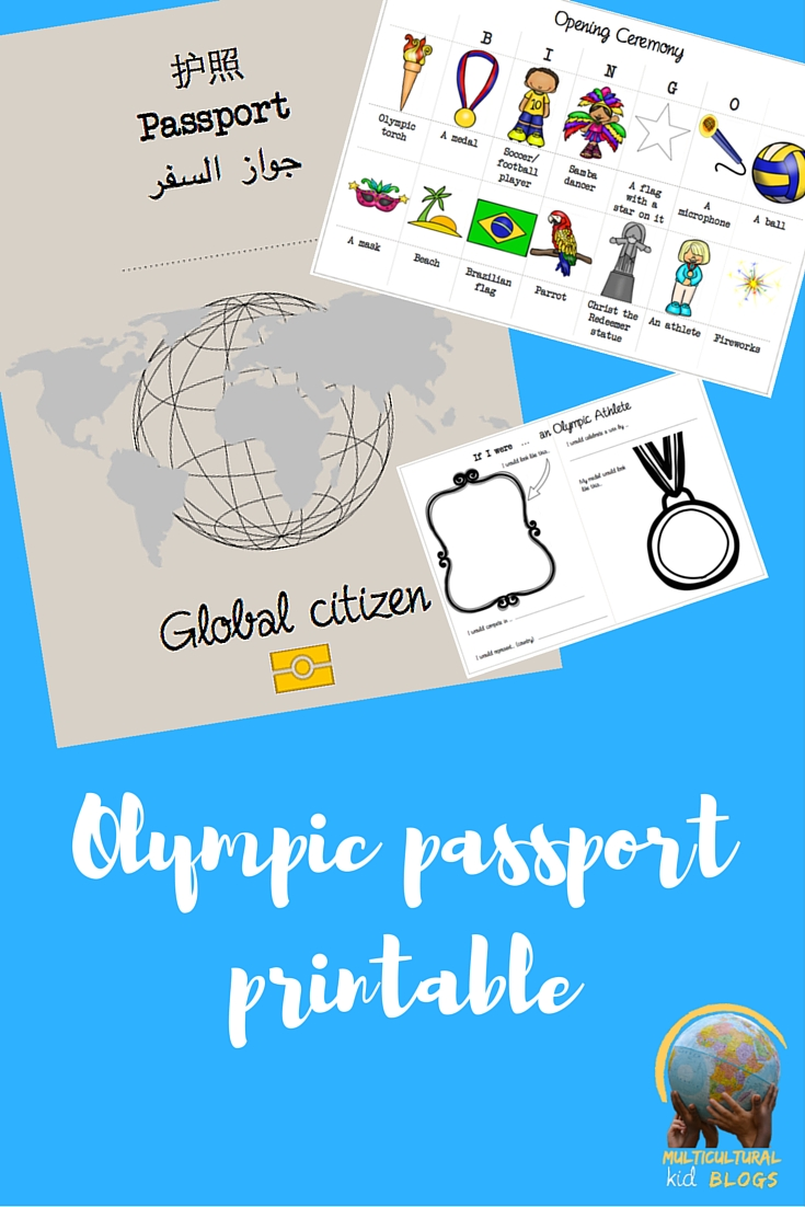 This is a graphic of Printable Passport for Kids in kindergarten