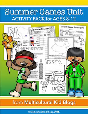 This printable activity pack is perfect for a kids Olympics party.