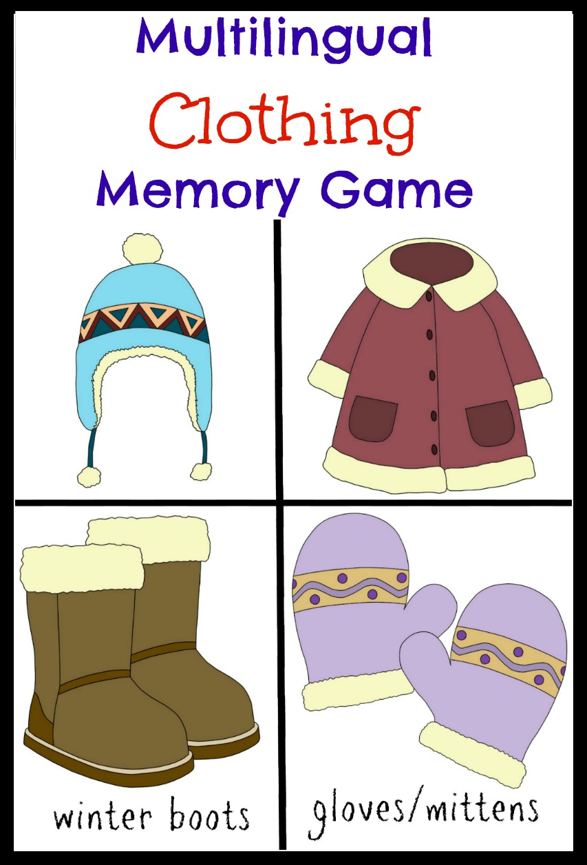 Multilingual Printables: Clothing Memory Game | Multicultural Kid Blogs
