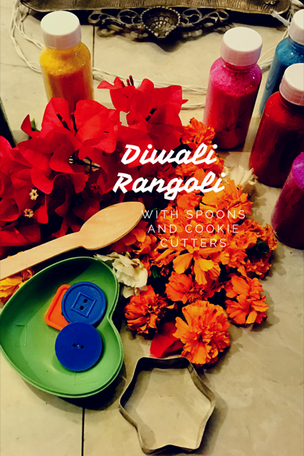 Diwali Rangoli with Spoons & Cookie Cutters