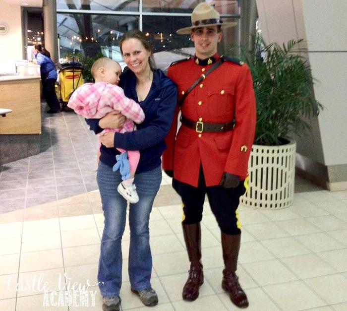 Castle View Academy meets an RCMP in Regina, Saskatchewan