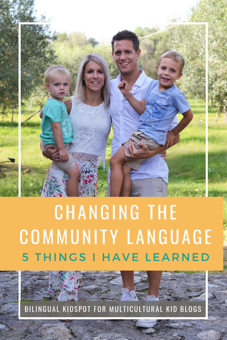 Changing community language