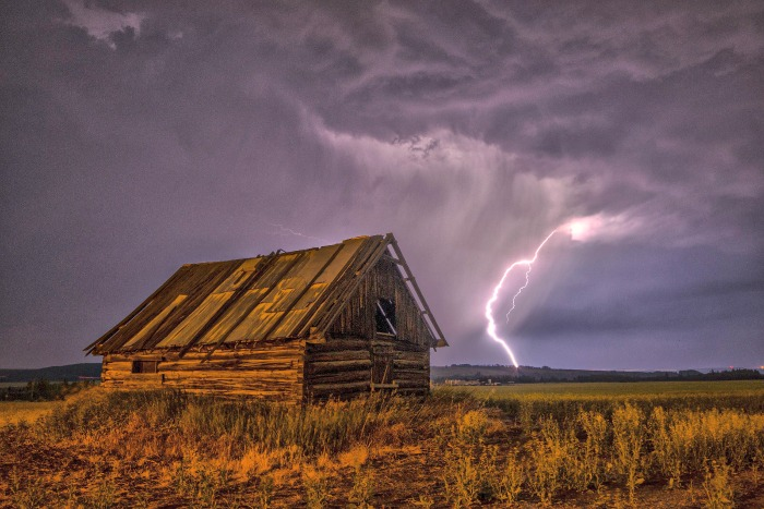 Wild summer storms on the prairies