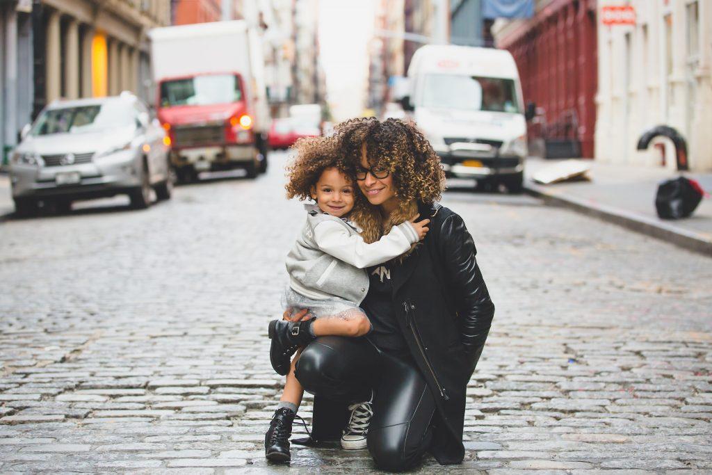 mom child diverse