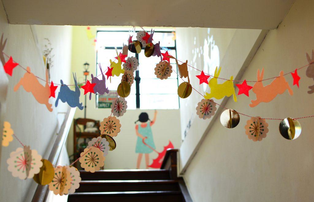 diverse school hallway