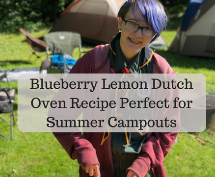Blueberry Lemon Dutch Oven Cobbler – Perfect for Summer Campouts