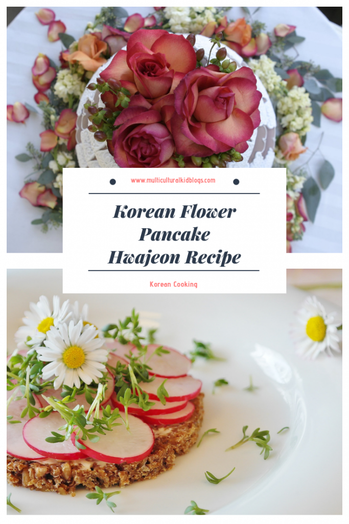 Flower pancake Korean