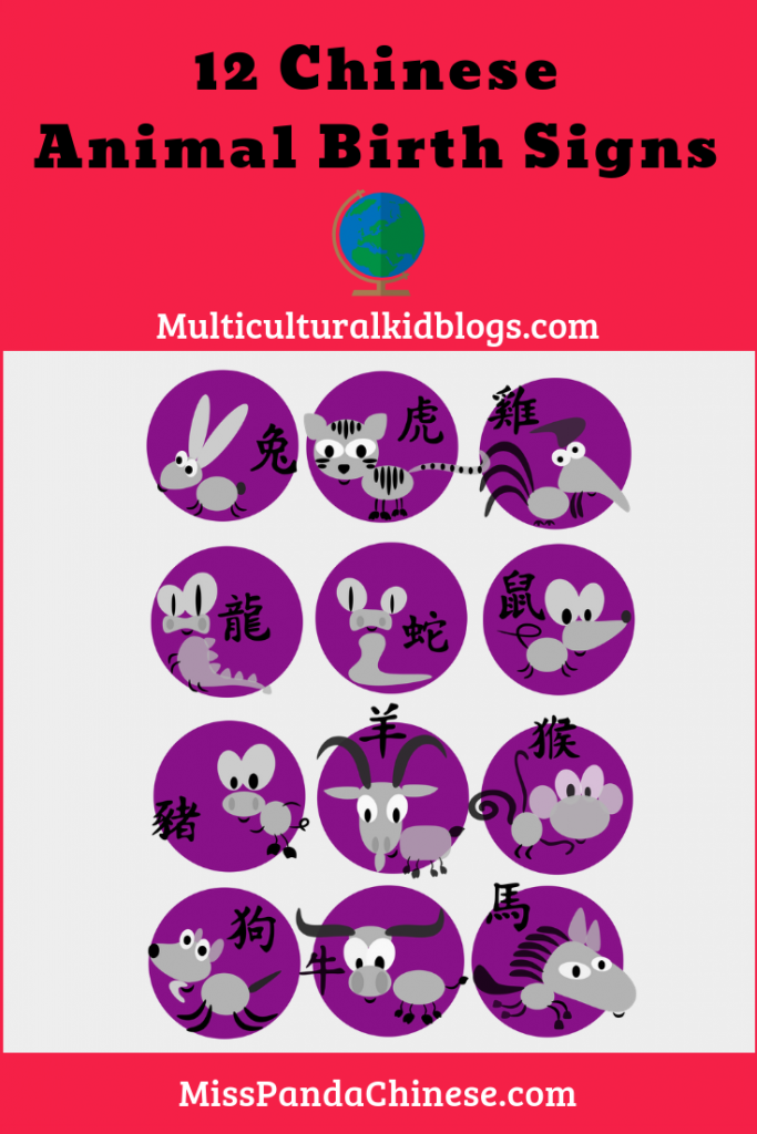 Chinese Animal Birth Signs by Miss Panda Chinese | multiculturalkidblogs