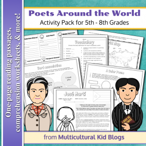 Poets Around the World Activity Pack | Multicultural Kid Blogs