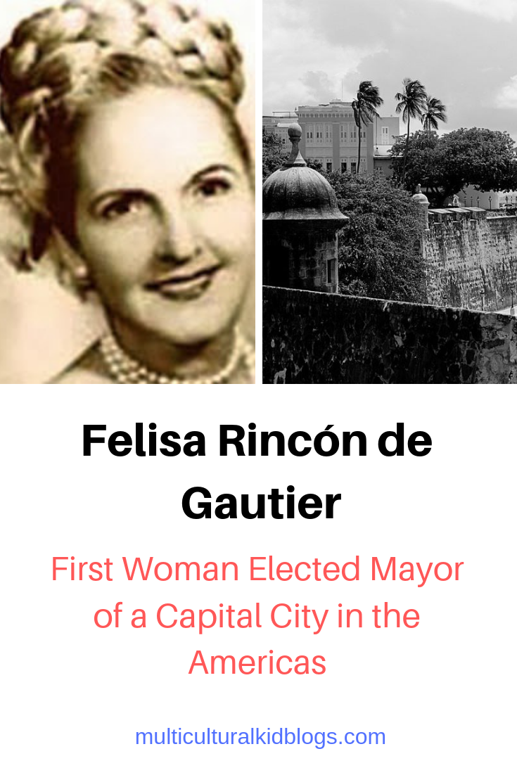 Felisa Rincón de Gautier. Image free to share and use commercially from Wikipedia.  San Juan, Puerto Rico. Public domain image from Wikimedia Commons.