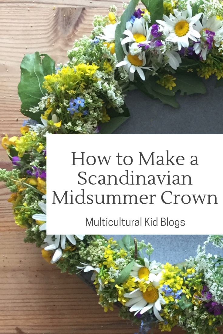 How to Make a Midsummer Crown | Lisa Ferland | multiculturalkidblogs.com