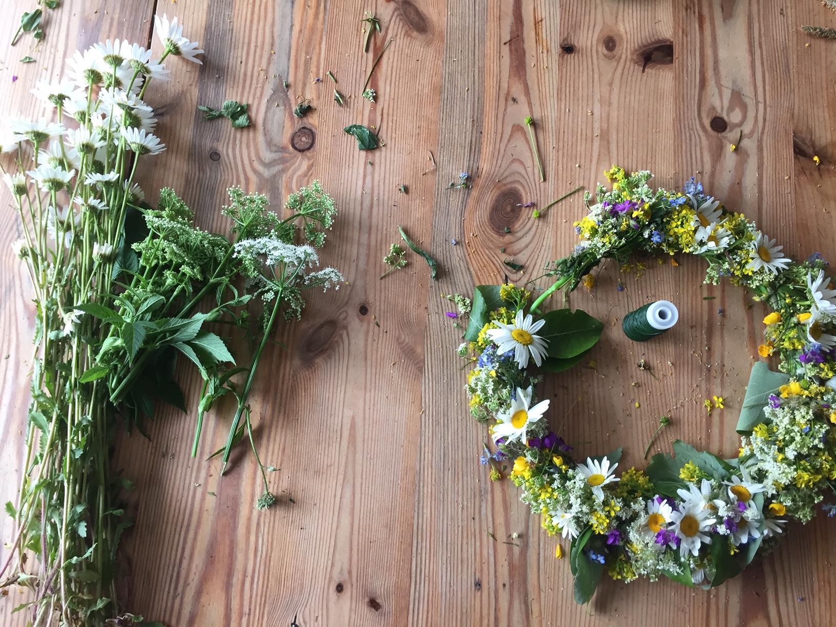 Scandinavian midsummer crown | Lisa Ferland | multiculturalkidblogs.com