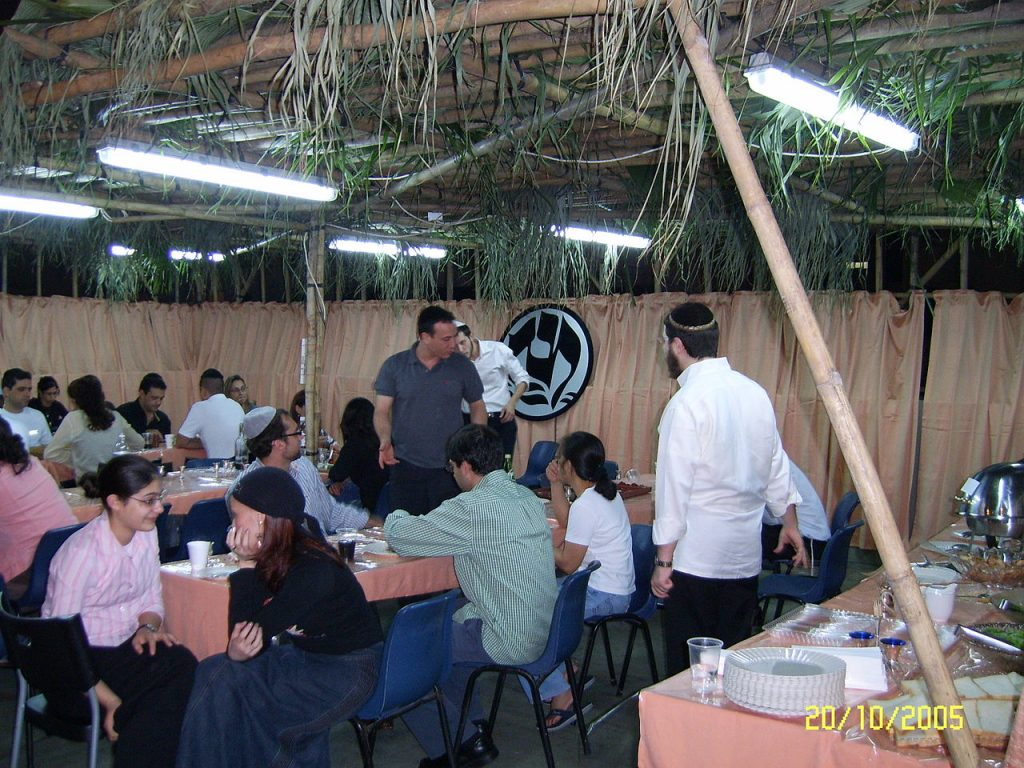 Eating a meal in a sukkah