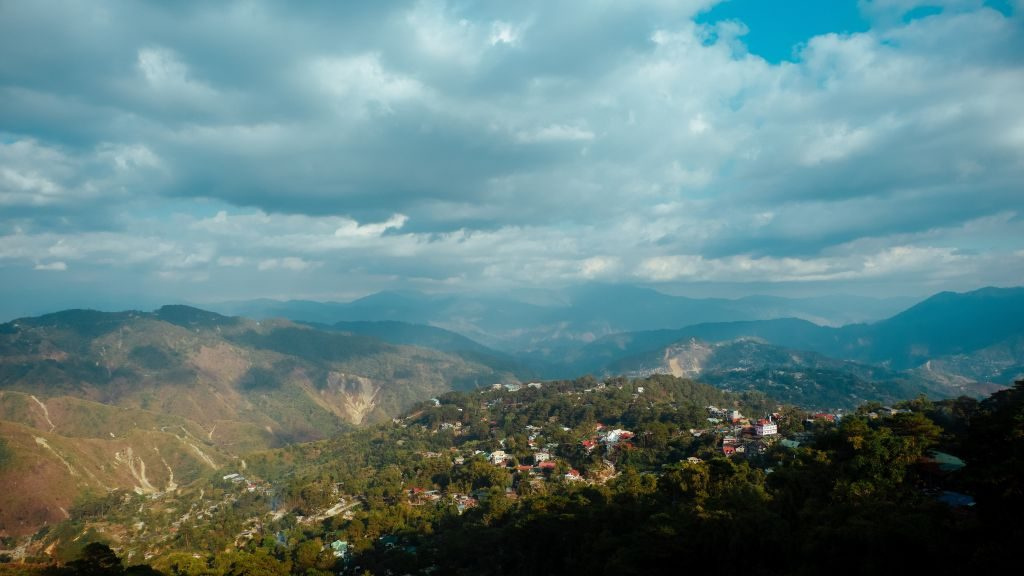 view across Baguio City