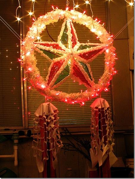 Filipino Christmas decorations.