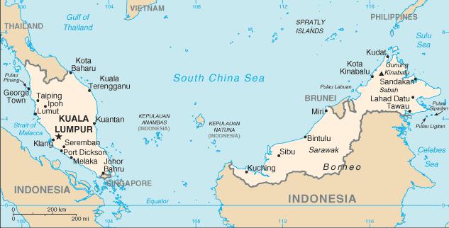 Malaysia map | Malaysia fun facts | MKB