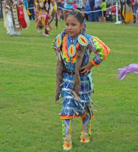 Girl dressed in Native American clothes | Honoring Native American Heritage Month with Kids