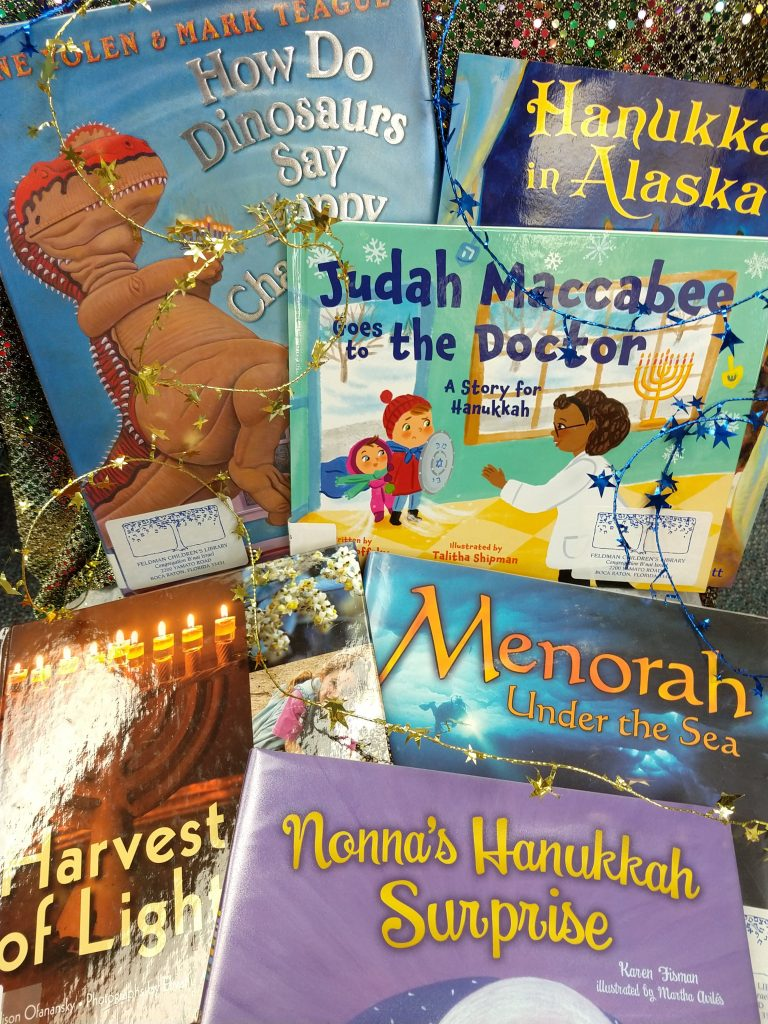 Hanukkah books with modern settings for kids.