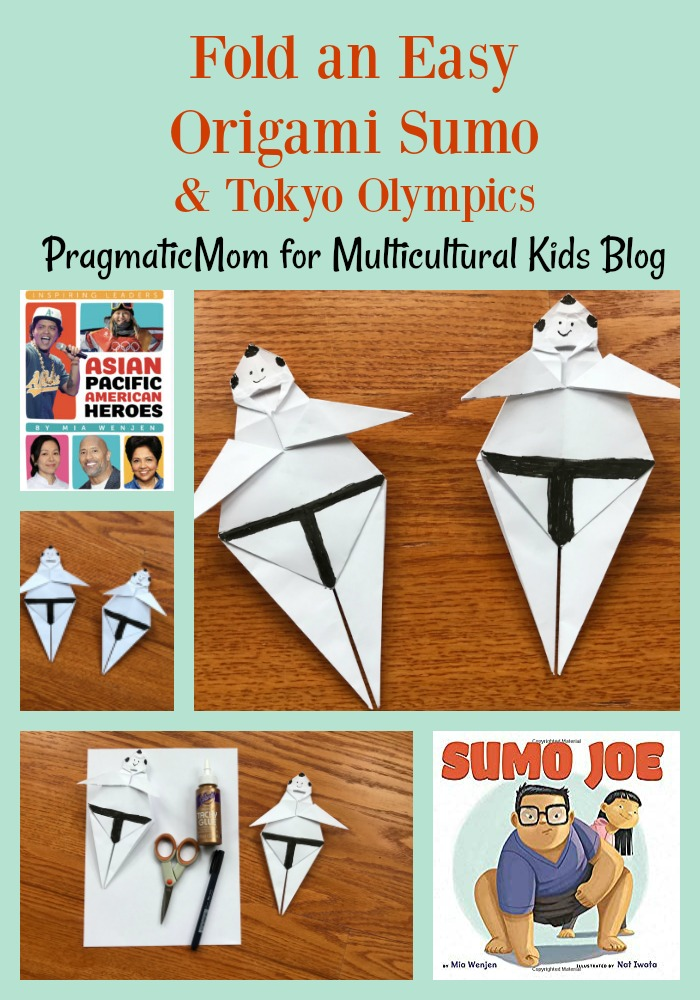 Fold an Easy Origami Sumo and the Tokyo Olympics