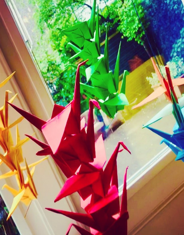 A little boredom might result in a creative endeavor like these origami cranes