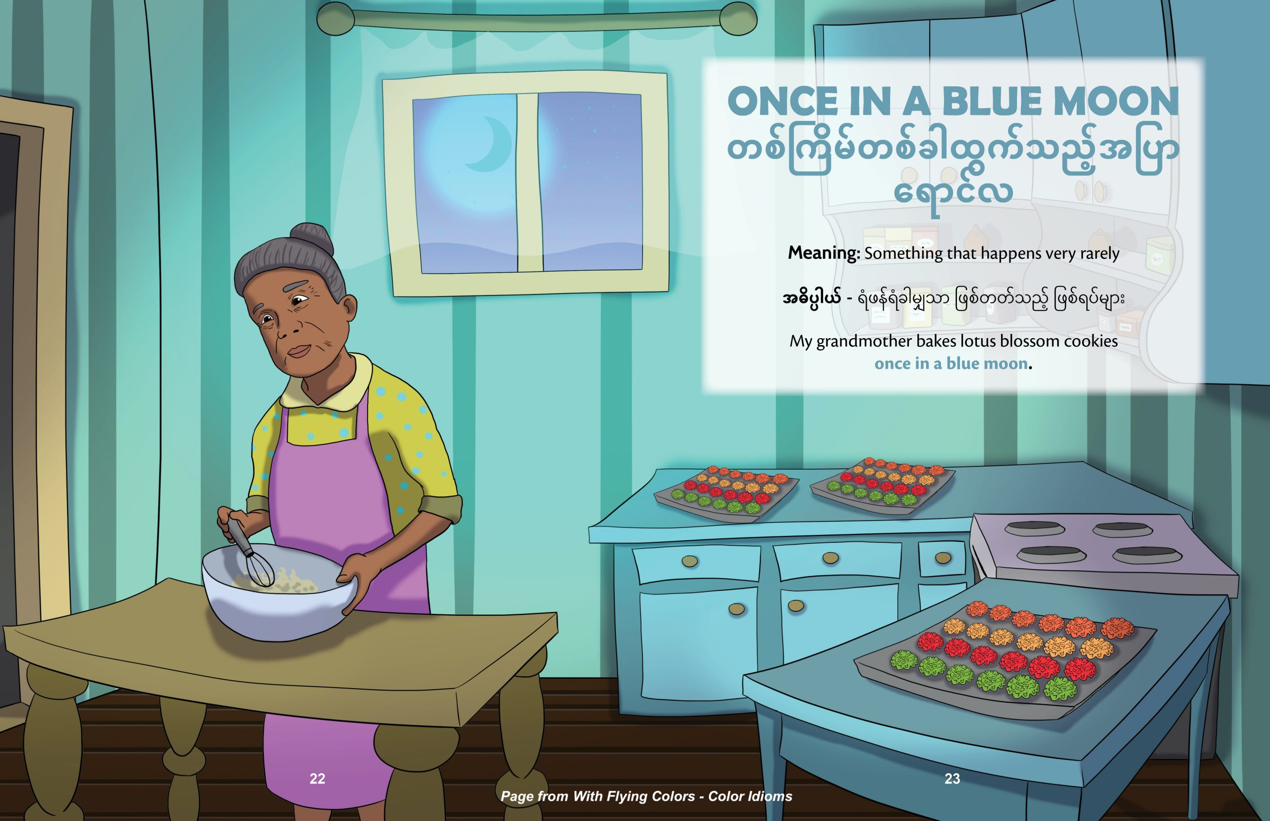 Once in a Blue Moon Burmese, Fun with Idioms