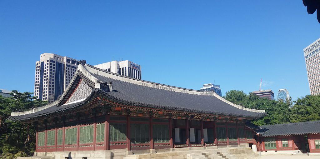 Photo of a Korean temple complex