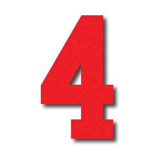 vector image of the number 4