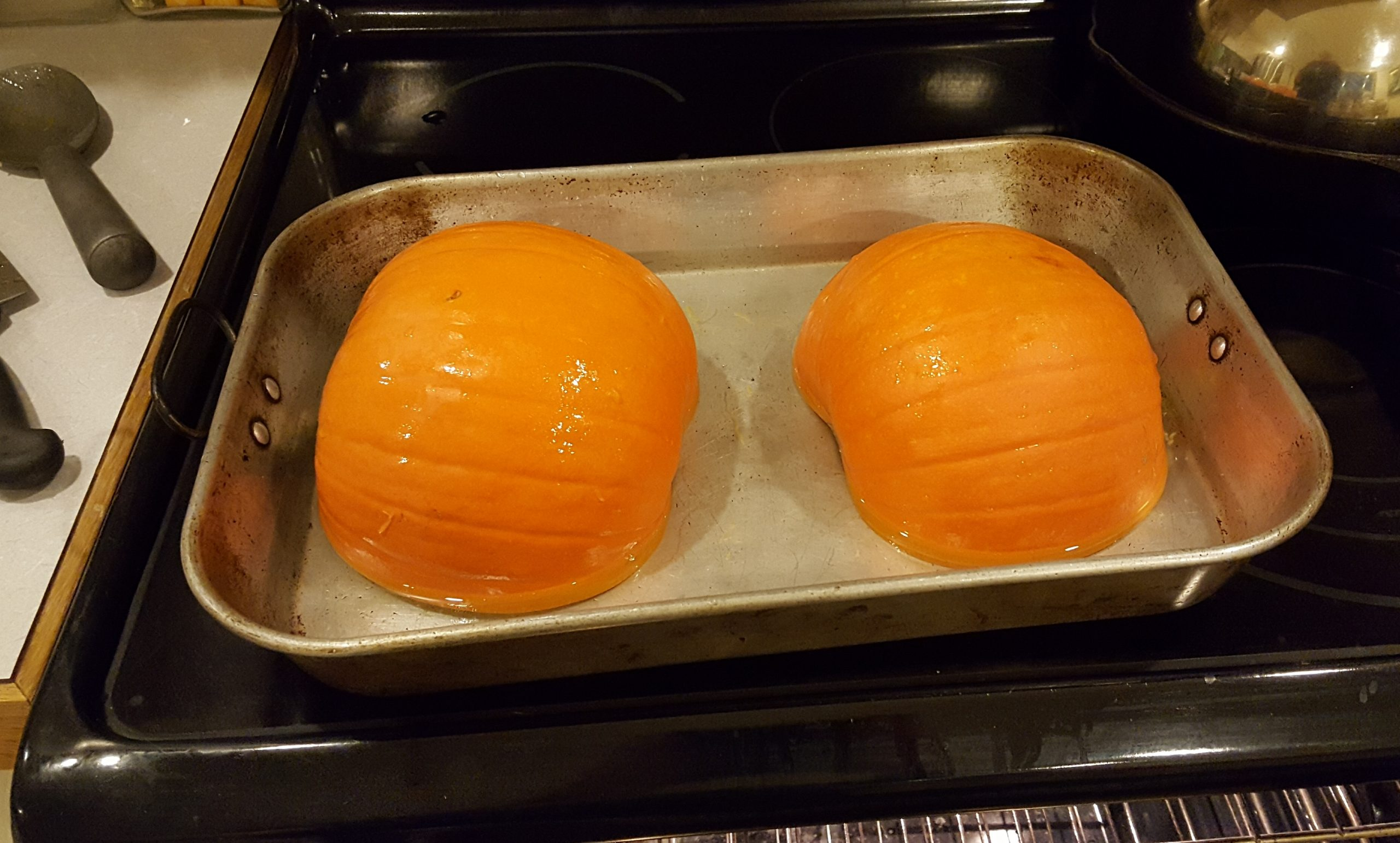 Cooking whole fresh pumpkin