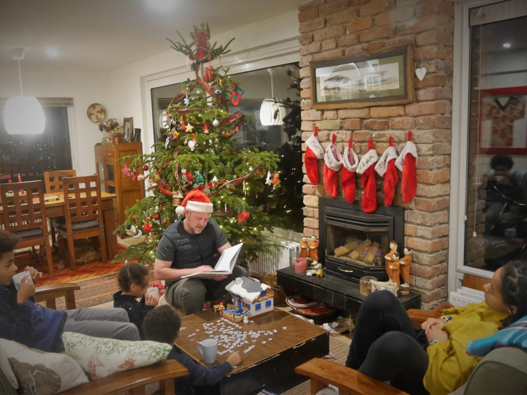Hoffman family Christmas reading, Multicultural Family's Christmas Traditions